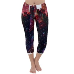 Abstract Building Fractal Capri Winter Leggings