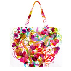Abstract Colorful Heart Large Tote Bag