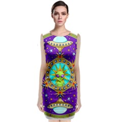 Alien Mandala Classic Sleeveless Midi Dress