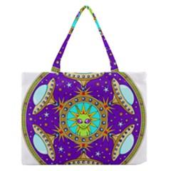 Alien Mandala Medium Zipper Tote Bag