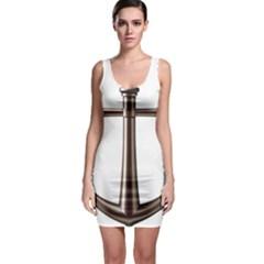 Anchor Sleeveless Bodycon Dress