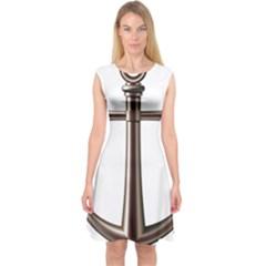 Anchor Capsleeve Midi Dress