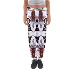 Art Traditional Batik Flower Pattern Women s Jogger Sweatpants