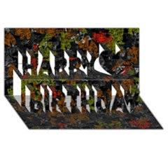 Autumn colors  Happy Birthday 3D Greeting Card (8x4)