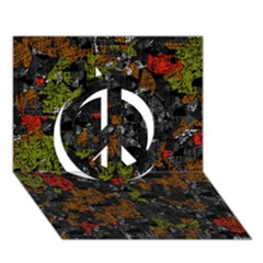 Autumn colors  Peace Sign 3D Greeting Card (7x5)