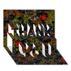 Autumn colors  THANK YOU 3D Greeting Card (7x5)