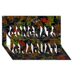 Autumn colors  Congrats Graduate 3D Greeting Card (8x4)