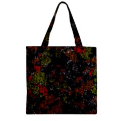 Autumn colors  Zipper Grocery Tote Bag