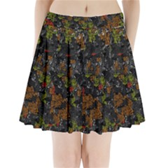 Autumn Colors  Pleated Mini Skirt