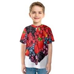 Berry Heart Kids  Sport Mesh Tee