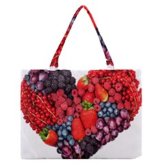 Berry Heart Medium Zipper Tote Bag