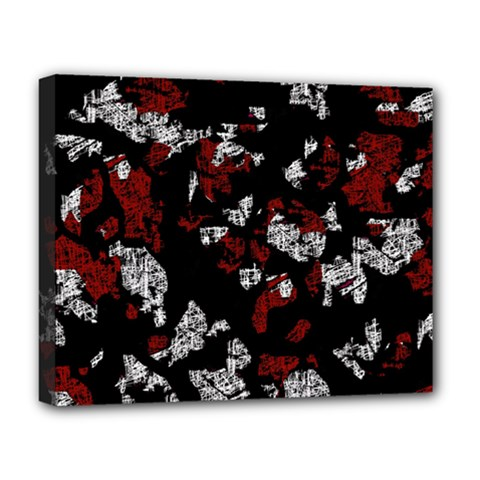 Red, white and black abstract art Deluxe Canvas 20  x 16
