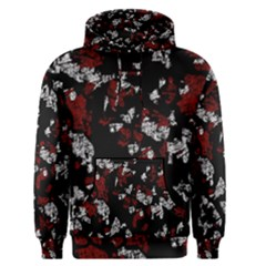 Red, white and black abstract art Men s Pullover Hoodie