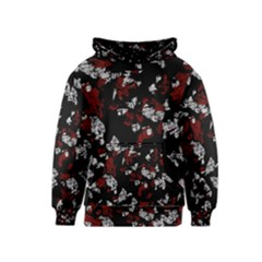 Red, white and black abstract art Kids  Pullover Hoodie