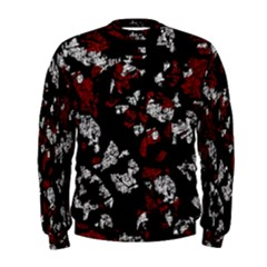 Red, white and black abstract art Men s Sweatshirt
