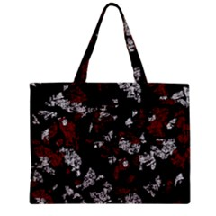 Red, white and black abstract art Zipper Mini Tote Bag