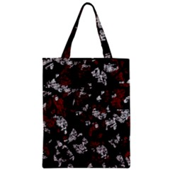 Red, white and black abstract art Zipper Classic Tote Bag