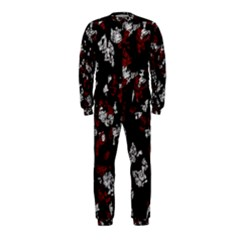 Red, white and black abstract art OnePiece Jumpsuit (Kids)