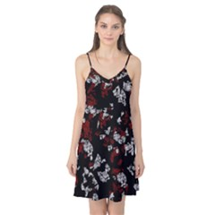 Red, White And Black Abstract Art Camis Nightgown