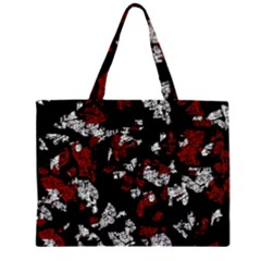 Red, white and black abstract art Large Tote Bag