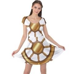 Boat Wheel Transparent Clip Art Cap Sleeve Dresses