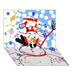 Snowman Clover 3D Greeting Card (7x5)