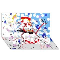 Snowman Best Wish 3d Greeting Card (8x4)