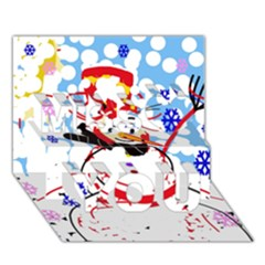 Snowman Miss You 3D Greeting Card (7x5)