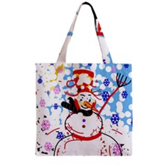 Snowman Grocery Tote Bag