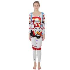 Snowman Long Sleeve Catsuit
