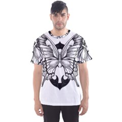 Butterfly Wings Tattoo Men s Sport Mesh Tee