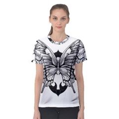 Butterfly Wings Tattoo Women s Sport Mesh Tee