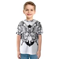 Butterfly Wings Tattoo Kids  Sport Mesh Tee
