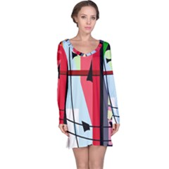 Window Long Sleeve Nightdress