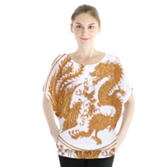 Chinese Dragon Gold Blouse