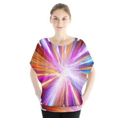 Colorful Abstract Light Rays Blouse