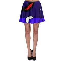 Night duck Skater Skirt