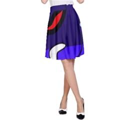 Night duck A-Line Skirt
