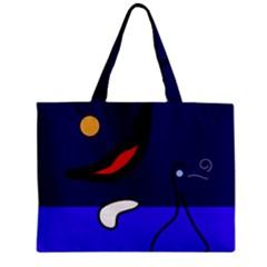 Night duck Zipper Mini Tote Bag