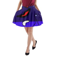 Night duck A-Line Pocket Skirt