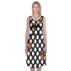 Polka Dots In The Wild Midi Sleeveless Dress
