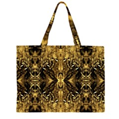 Beautiful Gold Brown Traditional Pattern Large Tote Bag