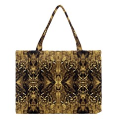 Beautiful Gold Brown Traditional Pattern Medium Tote Bag