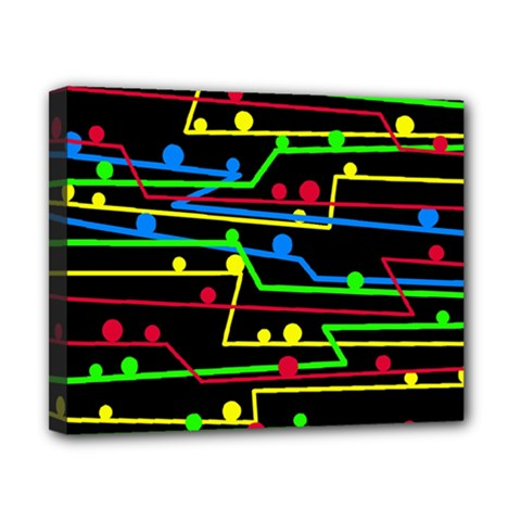 Stay in line Canvas 10  x 8