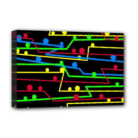Stay in line Deluxe Canvas 18  x 12