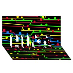 Stay in line HUGS 3D Greeting Card (8x4)