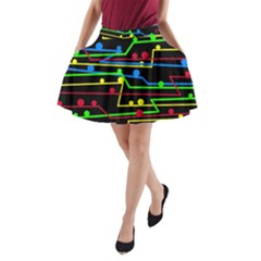 Stay in line A-Line Pocket Skirt