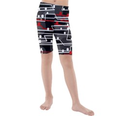 Stay in line Kids  Mid Length Swim Shorts
