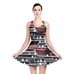 Stay in line Reversible Skater Dress