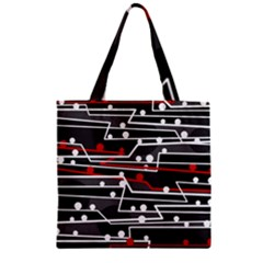 Stay in line Zipper Grocery Tote Bag